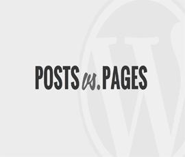 تفاوت بین پست ها و صفحات در وردپرس!
