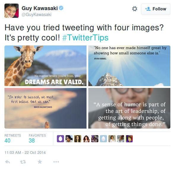 نمونه توییت با چند عکس