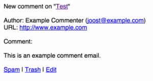 نوتیفیکیشن کامنت در ایمیل با پلاگین